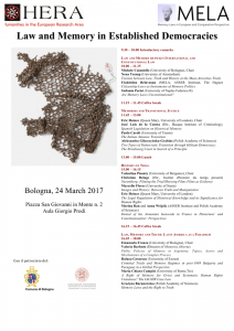 """Conference """"Law and Memory in Established Democracies"""""""