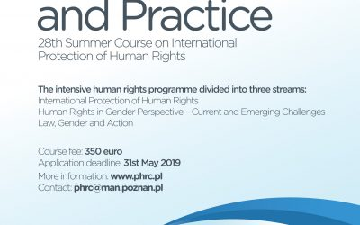 "Kurs letni Summer Course on International Protection of Human Rights ""Gender in Law and Practice"""